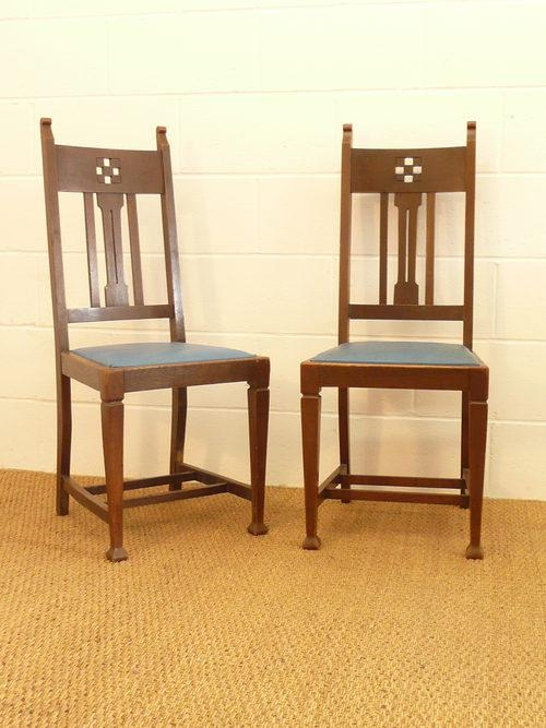 Set Of 8 Arts Crafts Glasgow Oak Dining Chairs – Antiques Atlas Inside Most Popular Glasgow Dining Sets (Image 17 of 20)