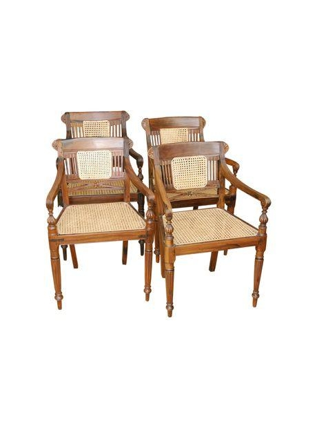 Set Of Four Anglo Indian Rosewood Dining Chairs | Antique Throughout Newest Indian Dining Chairs (Image 16 of 20)