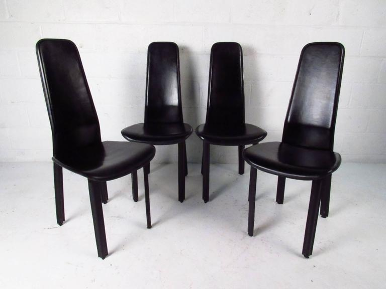 Set Of Italian Leather High Back Dining Chairscidue For Sale For High Back Leather Dining Chairs (Image 18 of 20)