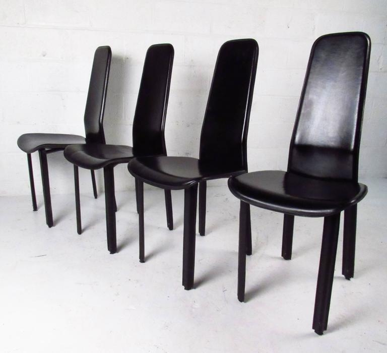 Set Of Italian Leather High Back Dining Chairscidue For Sale For Most Popular High Back Dining Chairs (Image 20 of 20)