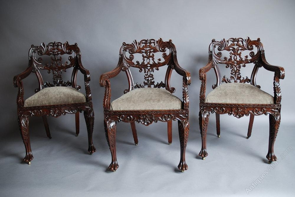 Set Of Six Anglo Indian Chairs – Antiques Atlas Pertaining To Most Up To Date Indian Dining Chairs (Image 17 of 20)