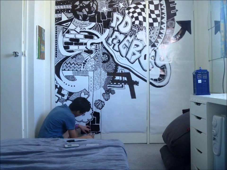 Sharpie Mural Stopmotion – Youtube With Sharpie Wall Art (Image 17 of 20)