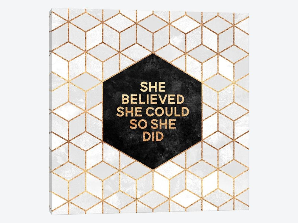 She Believed She Could So She Did Canv | Elisabeth Fredriksson With She Believed She Could So She Did Wall Art (Image 13 of 20)