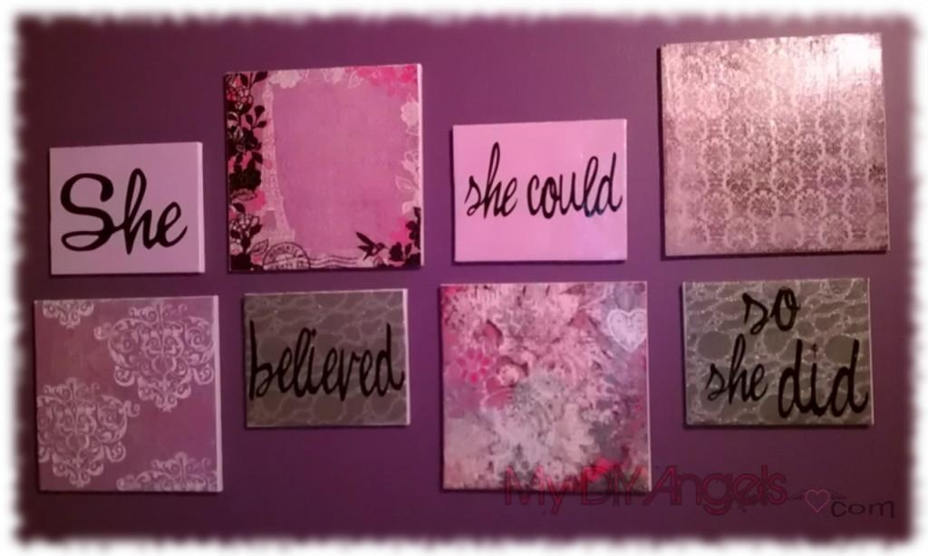"She Believed She Could So She Did"" Canvas Art – Cupkake In Pumps Throughout She Believed She Could So She Did Wall Art (Image 18 of 20)"