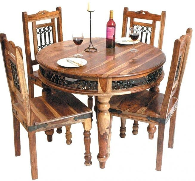 Sheesham Dining Table And Chairs Dining Tables Sheesham Dining Pertaining To 2018 Sheesham Dining Tables And 4 Chairs (View 14 of 20)
