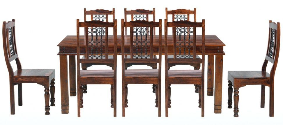 Sheesham Dining Table And Chairs Dining Tables Sheesham Dining With Most Up To Date Sheesham Dining Tables 8 Chairs (Image 15 of 20)