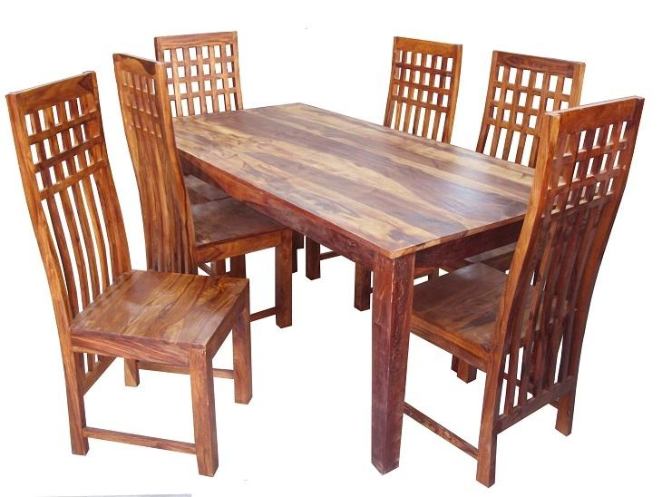Sheesham Wood 6 Seater Dining Table | Used Furniture For Sale Intended For Current Sheesham Dining Tables And 4 Chairs (Image 16 of 20)