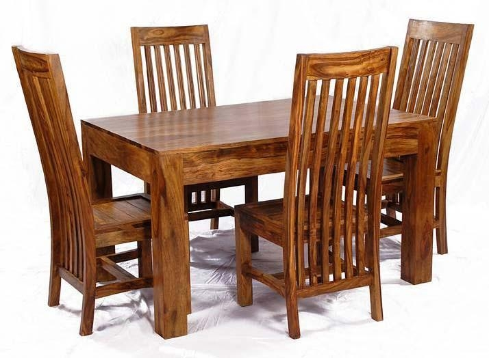 Sheesham Wood Dining Table Set Manufacturer & Manufacturer From Pertaining To Most Popular Sheesham Dining Chairs (View 6 of 20)