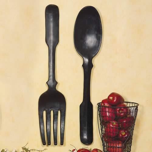 Shelley B Decor And More: Large Black Spoon And Fork Wall Art Throughout Large Spoon And Fork Wall Art (View 20 of 20)