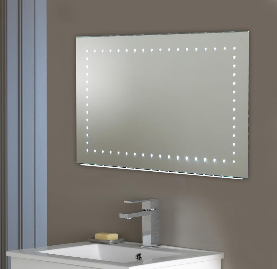Shining Ideas Large Led Bathroom Mirrors Mirror 3 Design Designs Intended For Bathroom Wall Mirrors With Lights (Image 16 of 20)