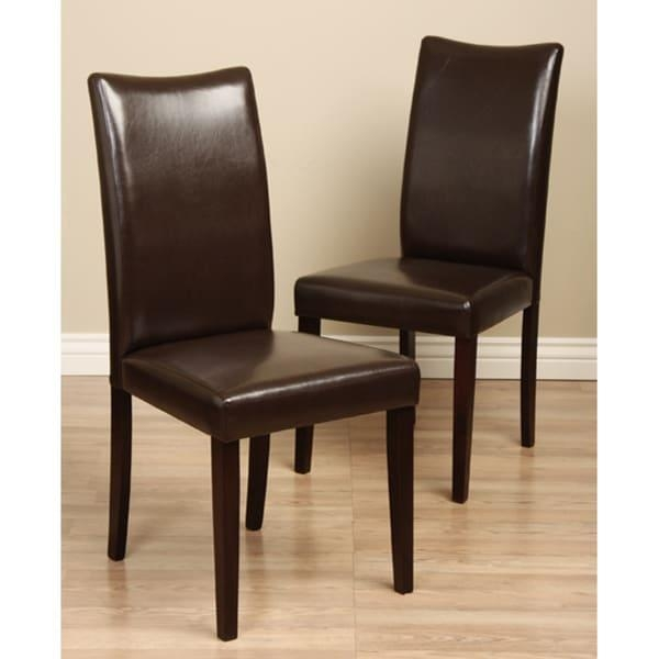 Shino Brown Bi Cast Leather Dining Chair (Set Of 2) – Free Regarding Brown Leather Dining Chairs (View 14 of 20)