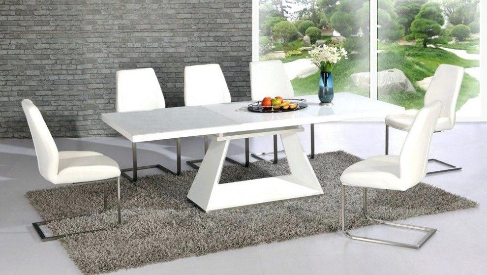 Shiny White Dining Table Dining Room Brown Lacquered Wood Dining With Regard To Recent Shiny White Dining Tables (Image 16 of 20)