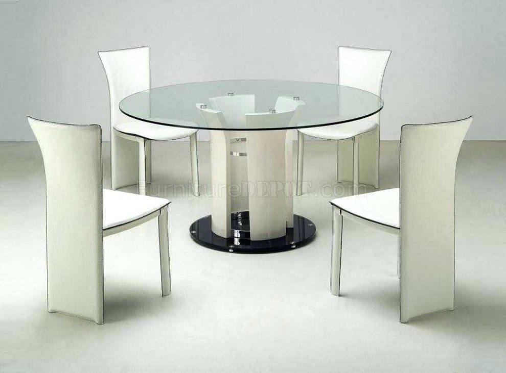 Shiny White Dining Table – Mitventures (Image 15 of 20)