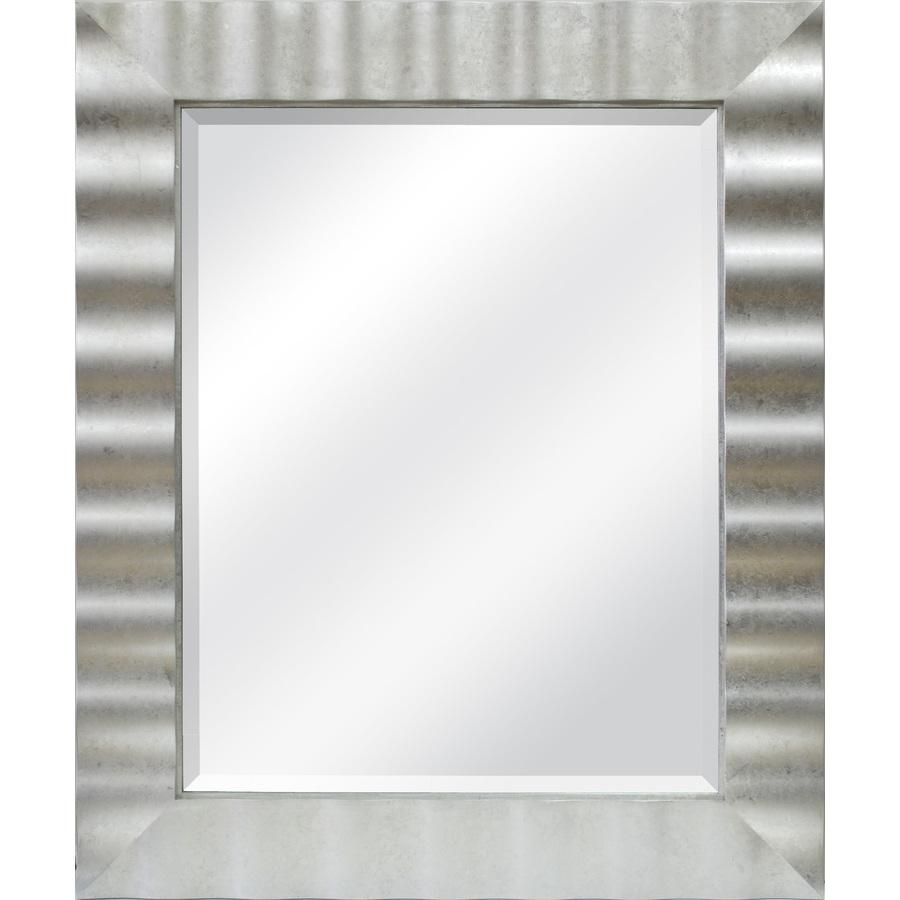 Shop Allen + Roth Silver Leaf Beveled Wall Mirror At Lowes Intended For Modern Framed Mirrors (Image 19 of 20)