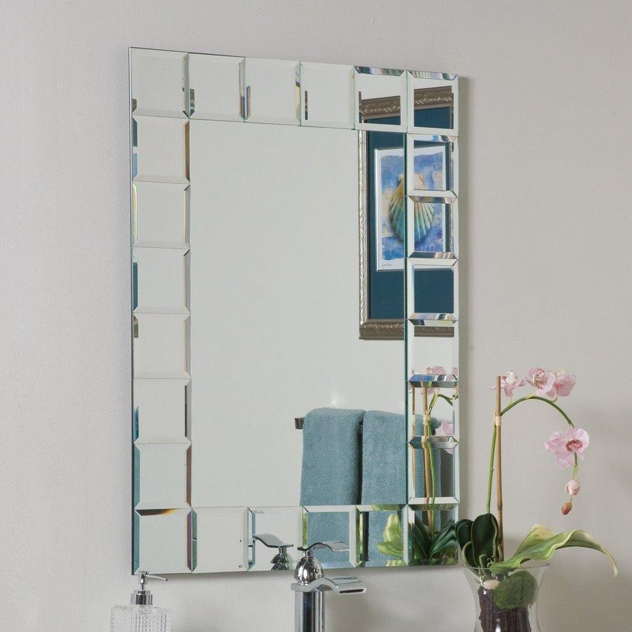 Shop Bathroom Mirrors At Lowes For Frameless Beveled Bathroom Mirrors (Image 15 of 20)