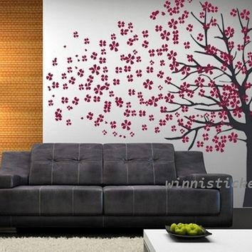 Shop Cherry Blossom Tree Wall Art On Wanelo Regarding Cherry Blossom Vinyl Wall Art (Image 18 of 20)