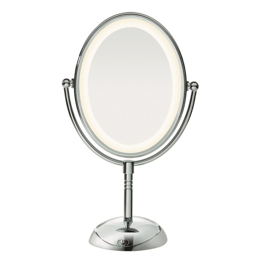 Shop Conair Chrome Magnifying Countertop Vanity Mirror With Light Inside Magnified Vanity Mirrors (Image 14 of 20)