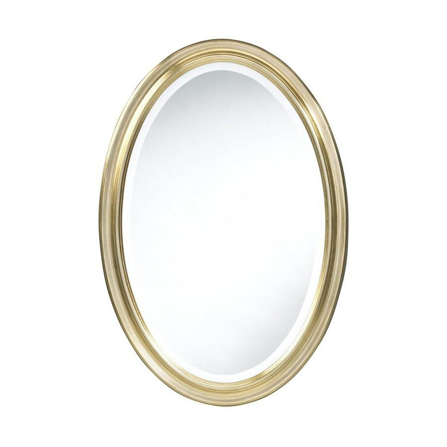 Shop Cooper Classics Blake Antique Gold Beveled Oval Wall Mirror With Regard To Gold Oval Mirrors (Image 19 of 20)