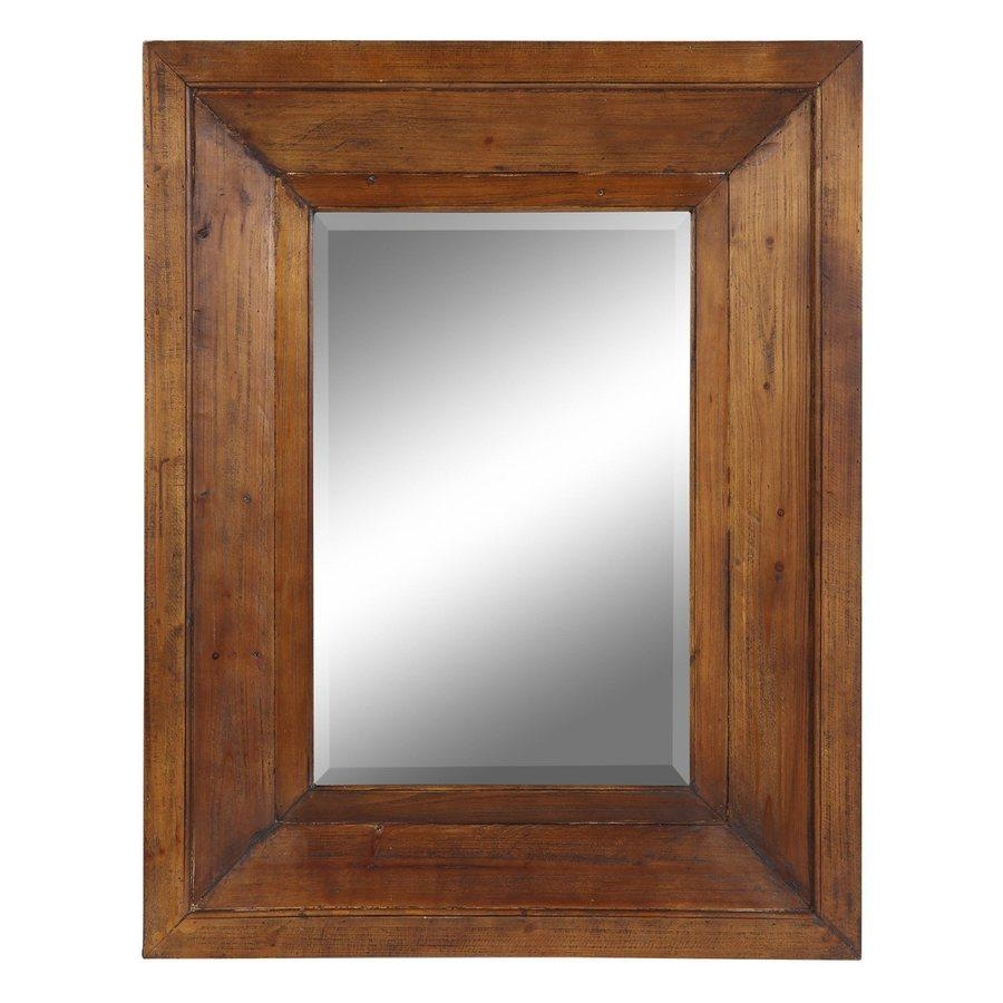 Shop Cooper Classics Canon Natural Rustic Wood Beveled Wall Mirror For Natural Wood Framed Mirrors (View 12 of 20)