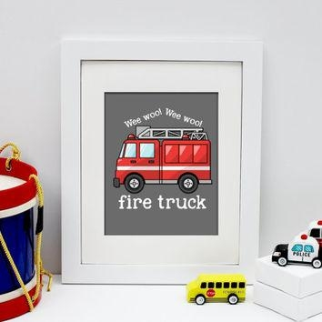Shop Fire Truck Decorations On Wanelo Regarding Fire Truck Wall Art (View 9 of 20)