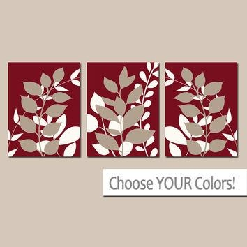 Shop Foliage Wall Art On Wanelo Throughout Red Bathroom Wall Art (Image 19 of 20)