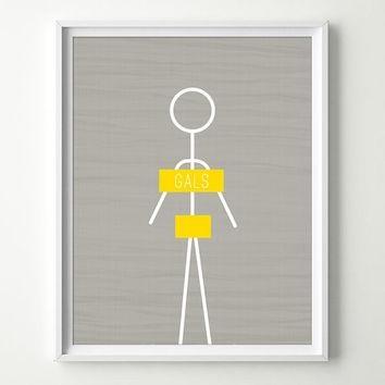 Shop Gray And Yellow Bathroom Wall Art On Wanelo Within Bathroom Wall Hangings (Image 18 of 20)