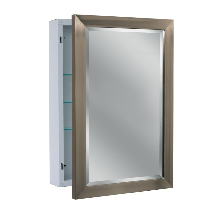 Shop Medicine Cabinets At Lowes Pertaining To Bathroom Medicine Cabinets With Mirrors (Image 19 of 20)