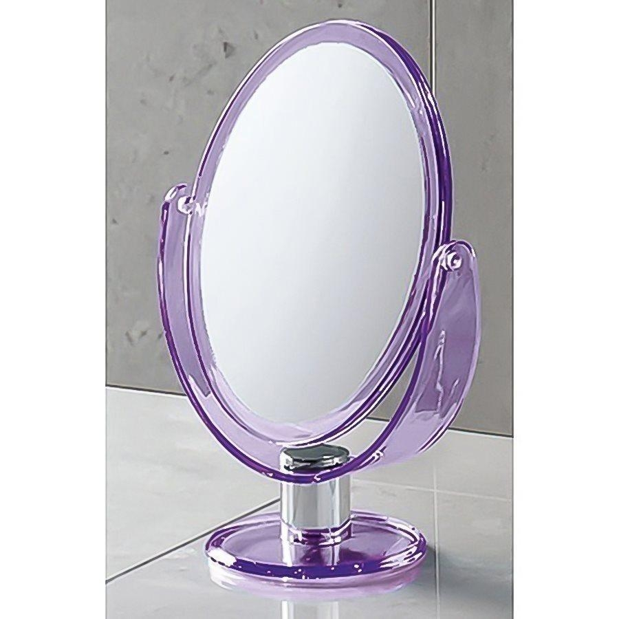 Shop Nameeks Mirror Purple Plastic Magnifying Countertop Vanity Regarding Magnified Vanity Mirrors (Image 15 of 20)