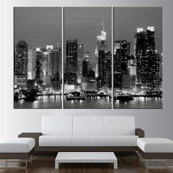 Shop New York Skyline Wall Art On Wanelo Within Black And White New York Canvas Wall Art (Image 13 of 20)
