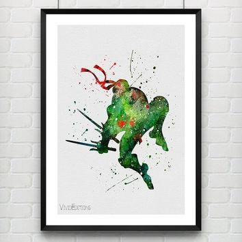 Shop Ninja Turtle Decor On Wanelo Within Tmnt Wall Art (Image 12 of 20)