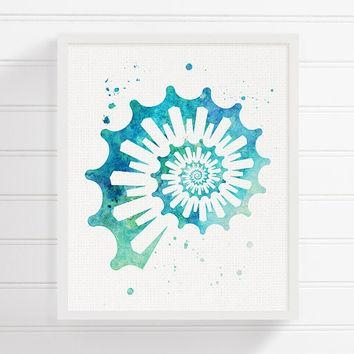 Shop Painted Seashells On Wanelo Within Seashell Prints Wall Art (Image 14 of 20)