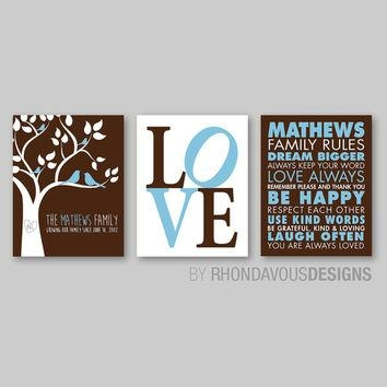 Shop Personalized Tree Of Love Print On Wanelo In Personalized Family Rules Wall Art (Image 14 of 20)