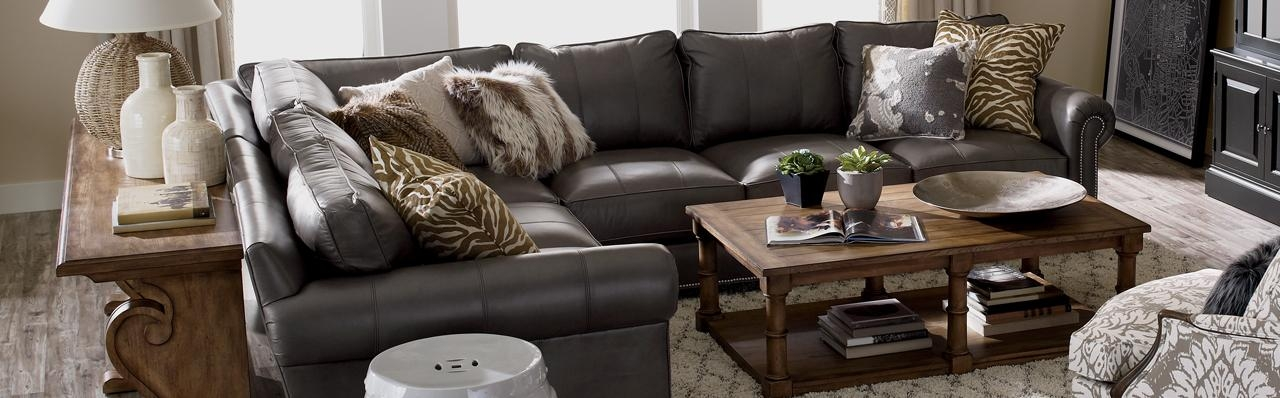 Shop Sectionals | Leather Living Room Sectionals | Ethan Allen With Regard To Richmond Sectional Sofas (Image 19 of 20)