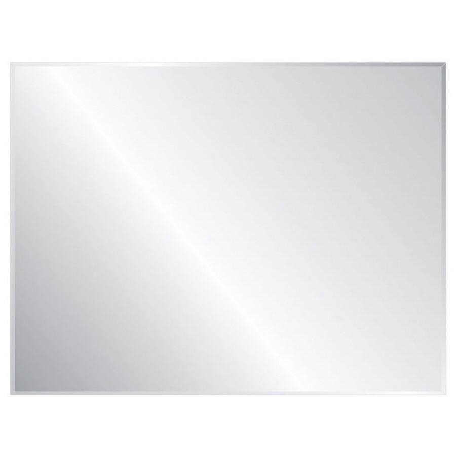 Shop Style Selections Silver Beveled Frameless Wall Mirror At Throughout No Frame Wall Mirrors (Image 15 of 20)