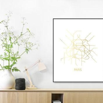 Shop Subway Map Print On Wanelo Intended For Map Of Paris Wall Art (Image 16 of 20)