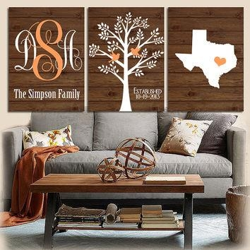 Shop Wood Initial Wall Art On Wanelo Intended For Custom Last Name Wall Art (Image 16 of 20)
