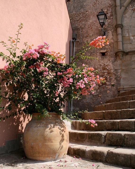 Sicily Photography Peach Home Decor Italy Photograph Pink With Rustic Italian Wall Art (Image 16 of 20)