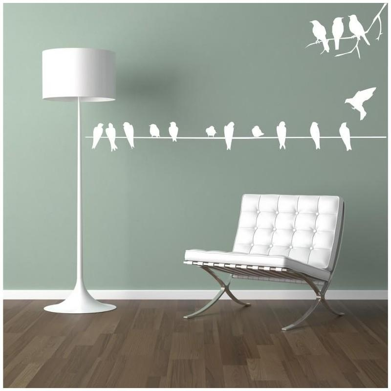 Single Line Of Birds On A Wire Vinyl Wall Art Decal – Vinyl Vault Pertaining To Birds On A Wire Wall Art (View 18 of 20)