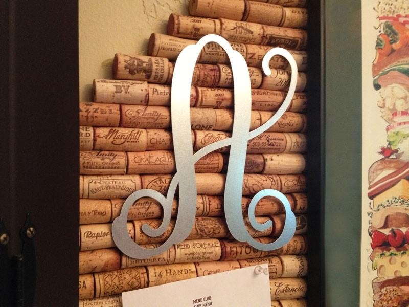 Single Metal Vine Monogram | Galvanized Steel Vine Monogram With Regard To Monogram Metal Wall Art (Image 12 of 20)