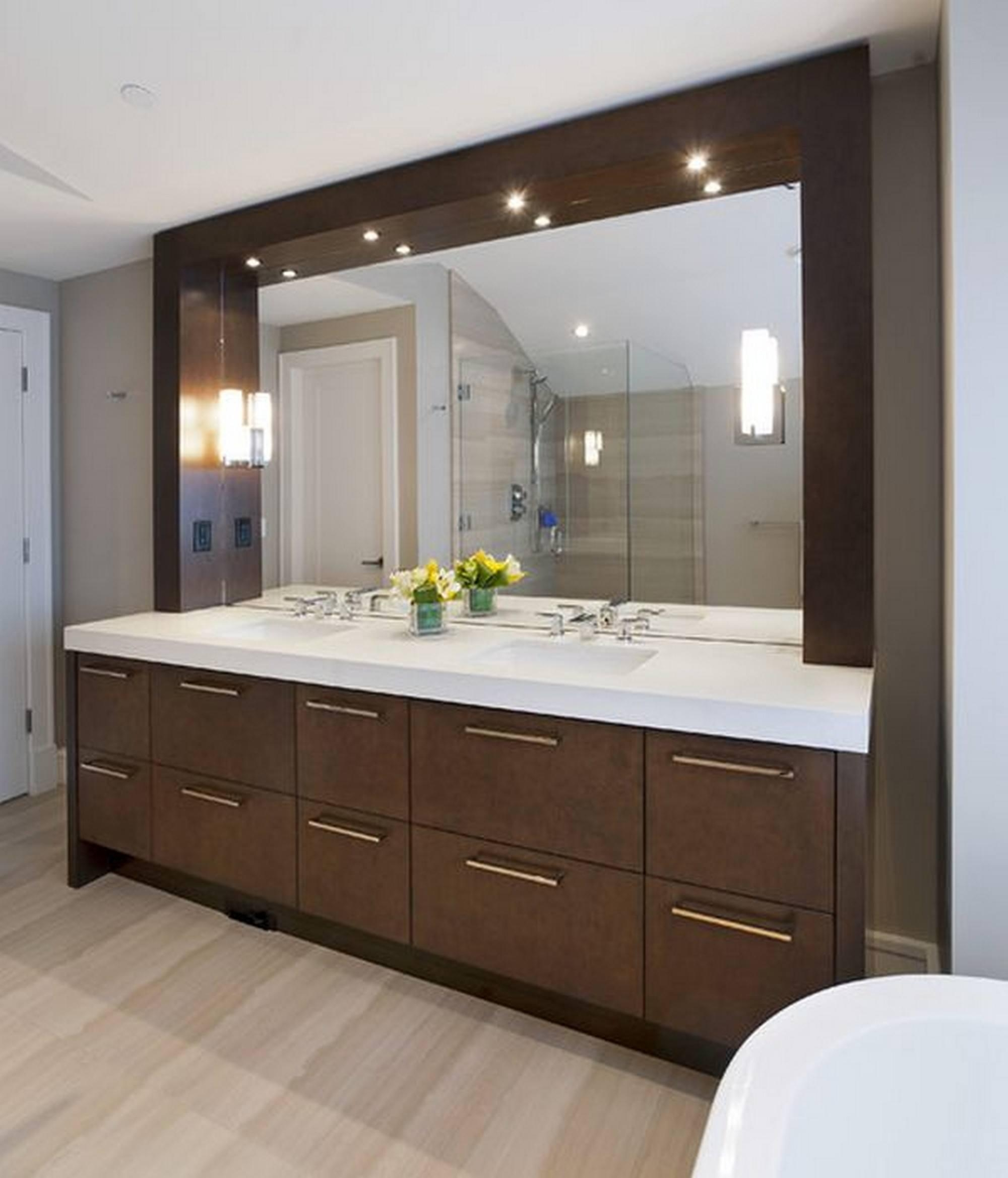 Six Lighting Concepts For Bathroom Mirrors: Pros And Cons Inside Lights For Bathroom Mirrors (View 20 of 20)