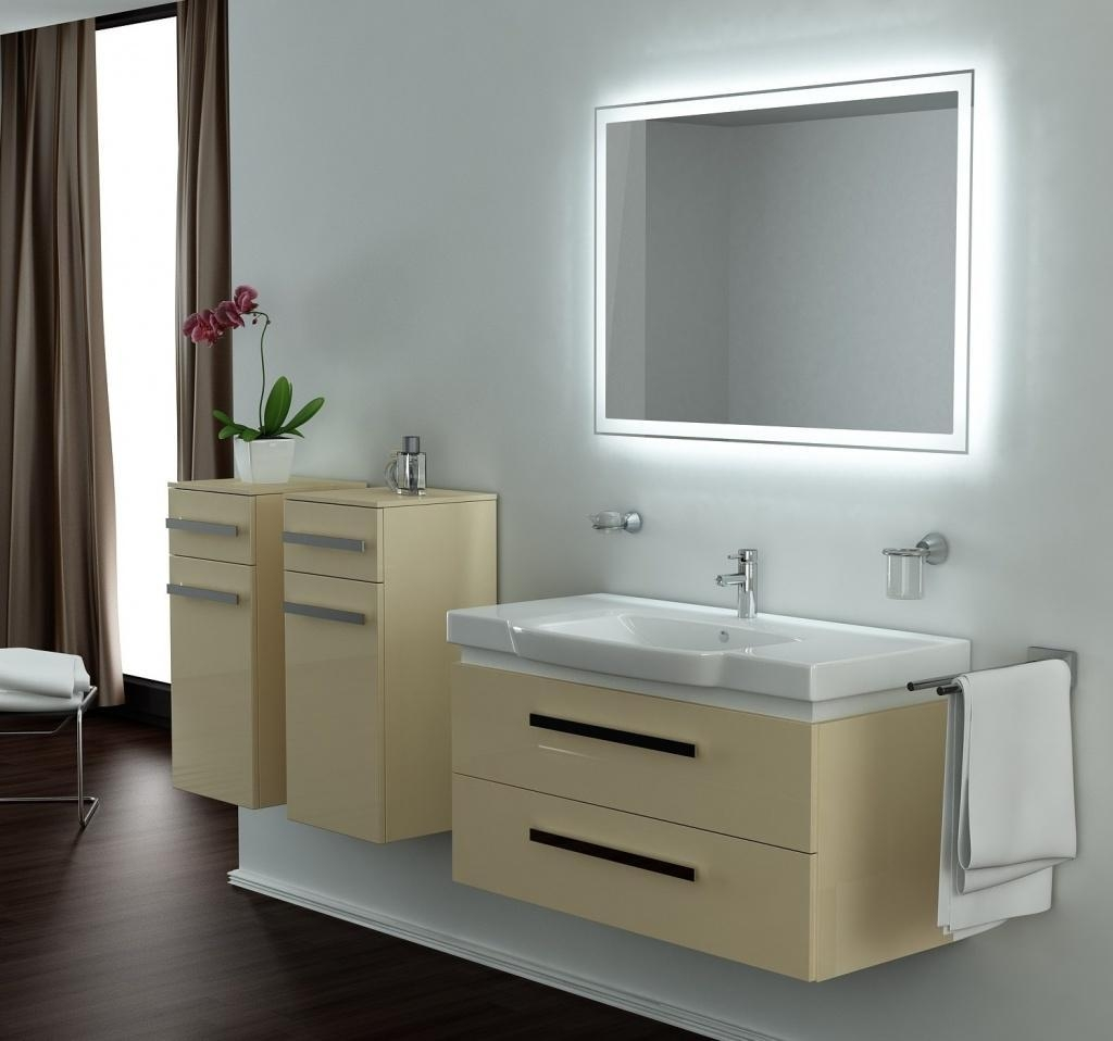 Six Lighting Concepts For Bathroom Mirrors: Pros And Cons Throughout Bathroom Mirrors Lights (View 12 of 20)