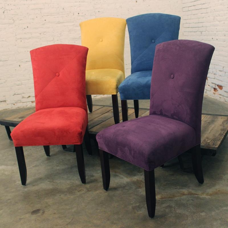 Purple Leather Dining Chairs