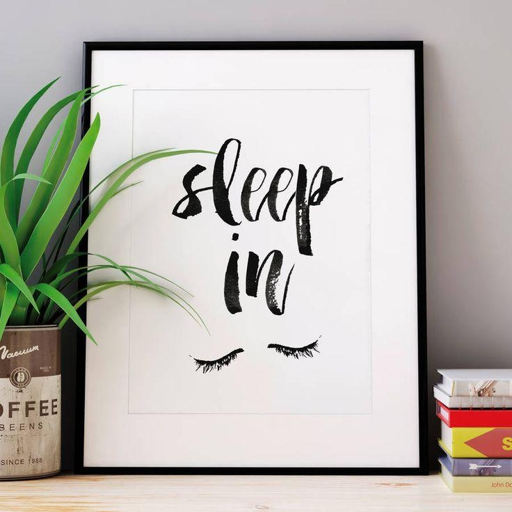 Sleep In' Watercolour Typography Print | Watercolor Typography For Italian Phrases Wall Art (Photo 20 of 20)
