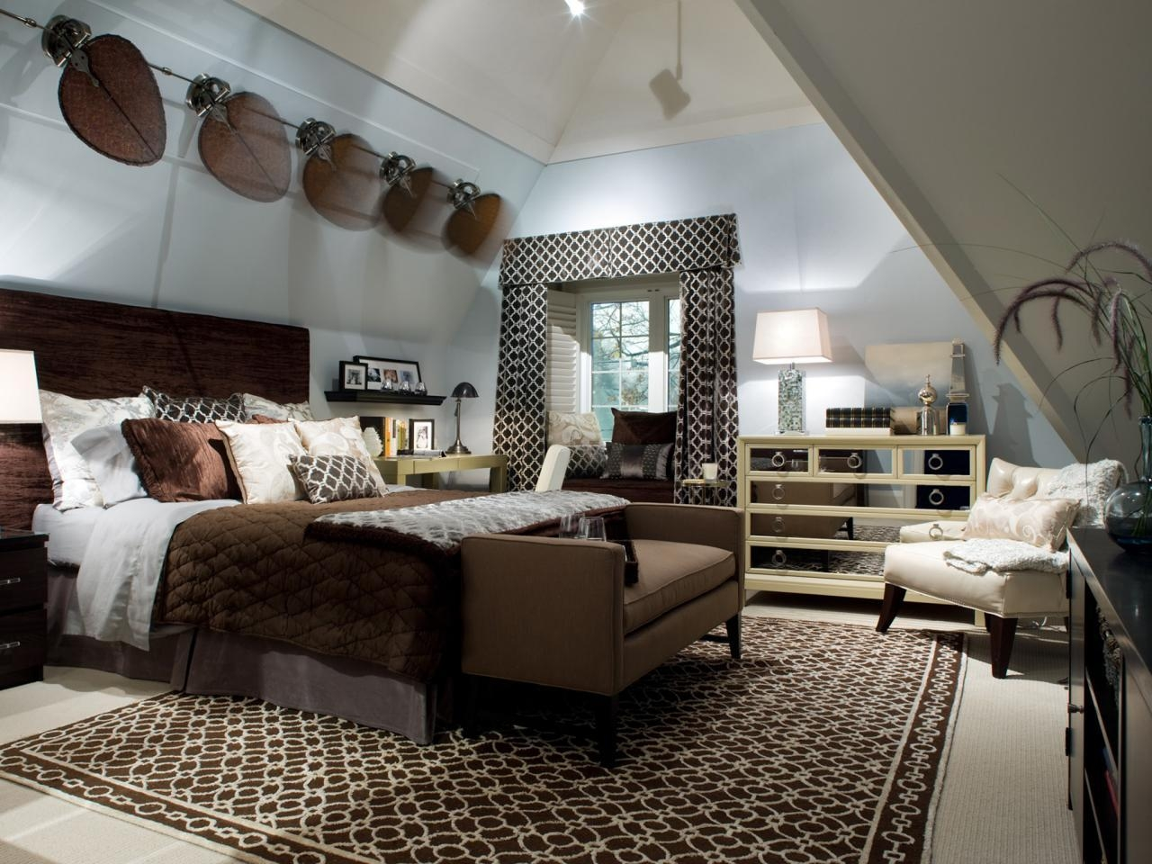 Sloped Ceilings In Bedrooms: Pictures, Options, Tips & Ideas | Hgtv Regarding Ceiling Mirrors For Bedroom (View 16 of 20)
