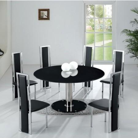 Featured Image of Round Black Glass Dining Tables And Chairs