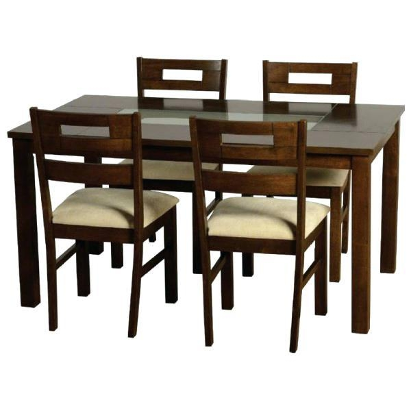 Small Glass Dining Table And 4 Chairs Erin Oak Dining Table And 4 Intended For Most Current Cheap Glass Dining Tables And 4 Chairs (Image 16 of 20)