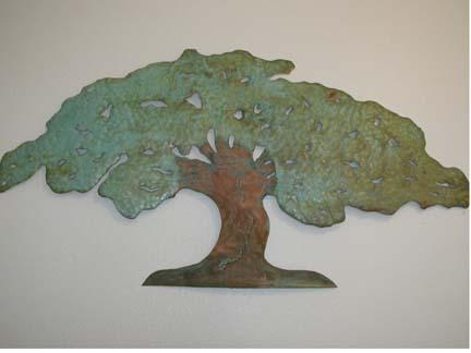 Soares Metal Garden Art & Welding – Wall Hangings & Home Decor Pertaining To Copper Oak Tree Wall Art (Image 19 of 20)