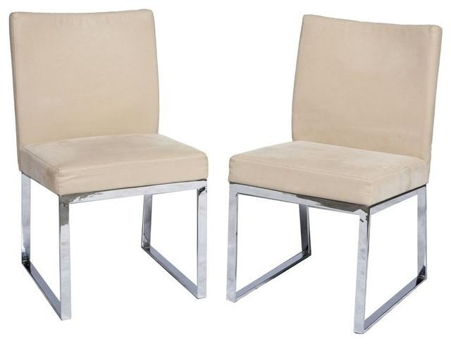 Sold Out! Pair Of Mid Century Vintage Chrome Chairs – $900 Est Intended For Most Popular Chrome Dining Chairs (View 6 of 20)