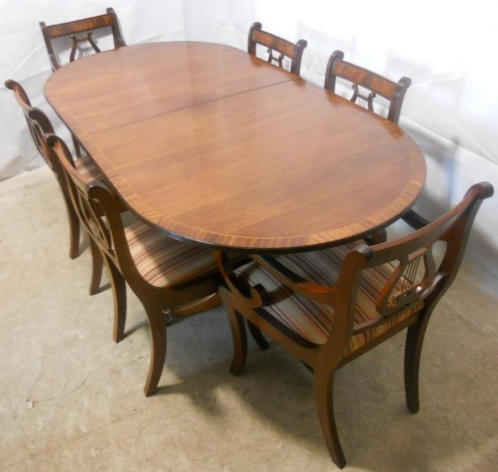 Sold – Regency Style Mahogany Extending Dining Table And Matching Pertaining To Best And Newest Mahogany Dining Tables And 4 Chairs (View 3 of 20)