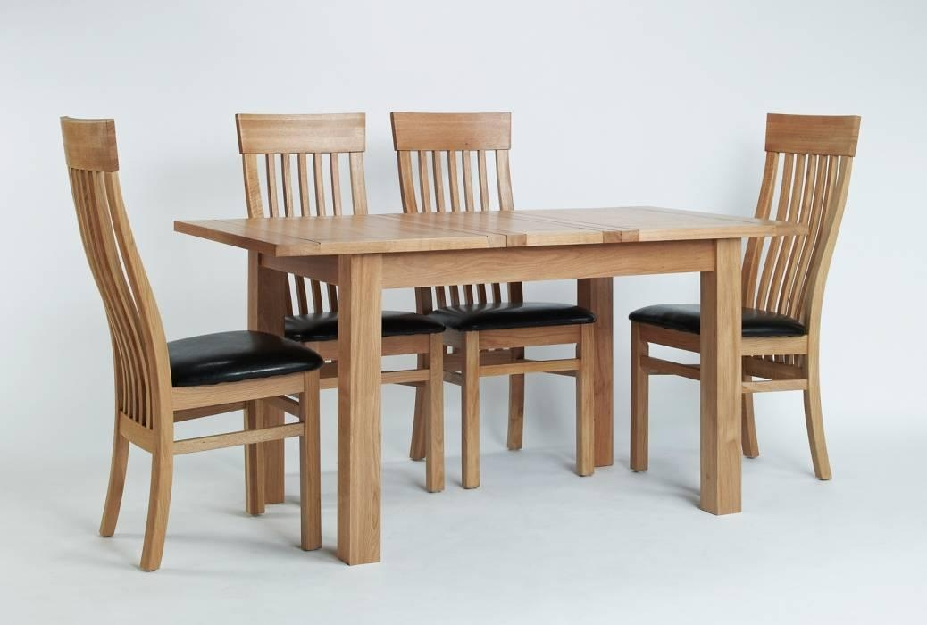 Solid Oak Dining Table 4 Chairs – Chair Exciting Solid Oak Dining With Regard To Newest Oak Extendable Dining Tables And Chairs (View 14 of 20)